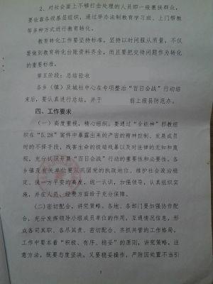 """5 关于开展专项整治""""百日会战""""行动的实施方案"""