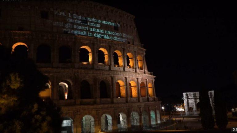 意大利:点燃火炬 呼吁各国尊重人权