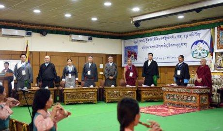 在达兰萨拉举行的第三次流亡藏人特别大会开幕式(照片由西藏政策研究中心提供)