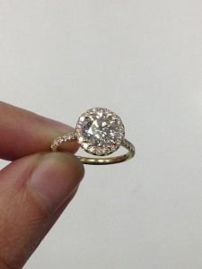 Diamond Halo Engagement Ring with Round Diamond from Adiamor
