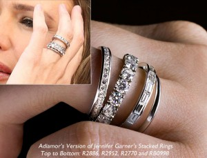 Jennifer Garner Stackable Eternity Rings