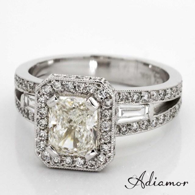 Custom Engagement Ring for Radiant Diamond