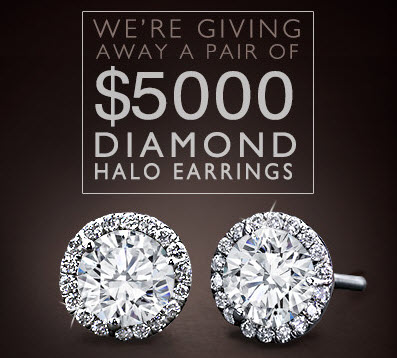 Adiamor Halo Diamond Earrings Sweepstakes