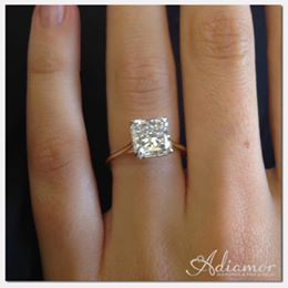 Adiamor Solitaire Engagement Ring On Hand