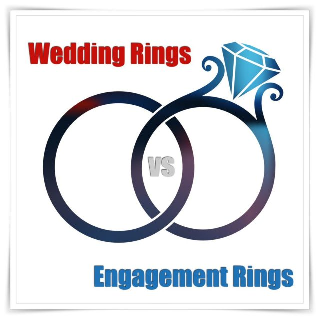 Engagement ring vs. wedding ring