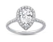 Pear Shape Diamond Halo Engagement