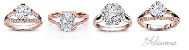 Split Shank Rose Gold Engagement Rings