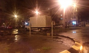 camion giratie noaptea Oradea (2)
