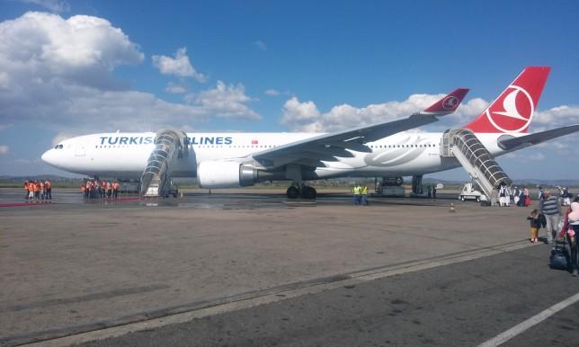 Turkish Airlines first flight Madagascar