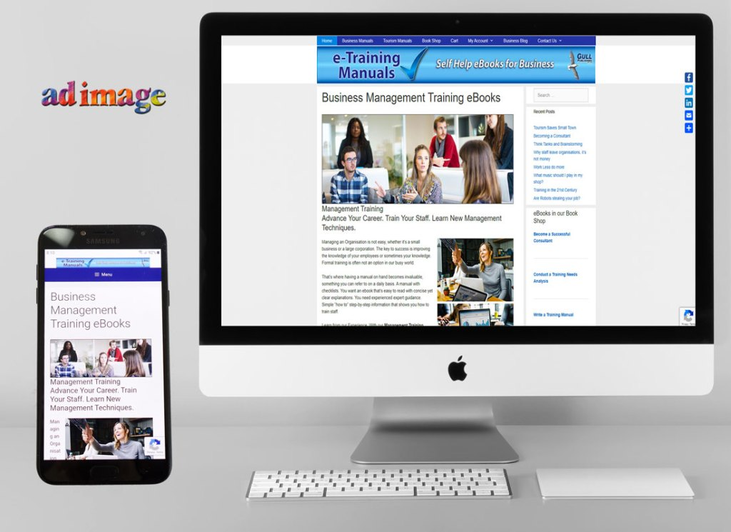 e-commerce website, downloadable e-books