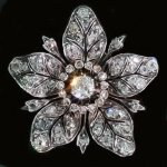 Victorian flower brooch and pendant loaded with diamonds