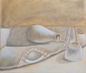 Nilya Mitchell, White Painting Assignment, Intro to Painting, MassArt, 2011