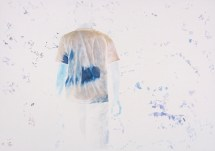 Back and Blue, watercolor on paper, 12.5″ x 17.75″, 2013
