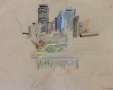 E. Moore, Cityscape, Drawing Fundamentals, MassArt Summer Intensives, 2013