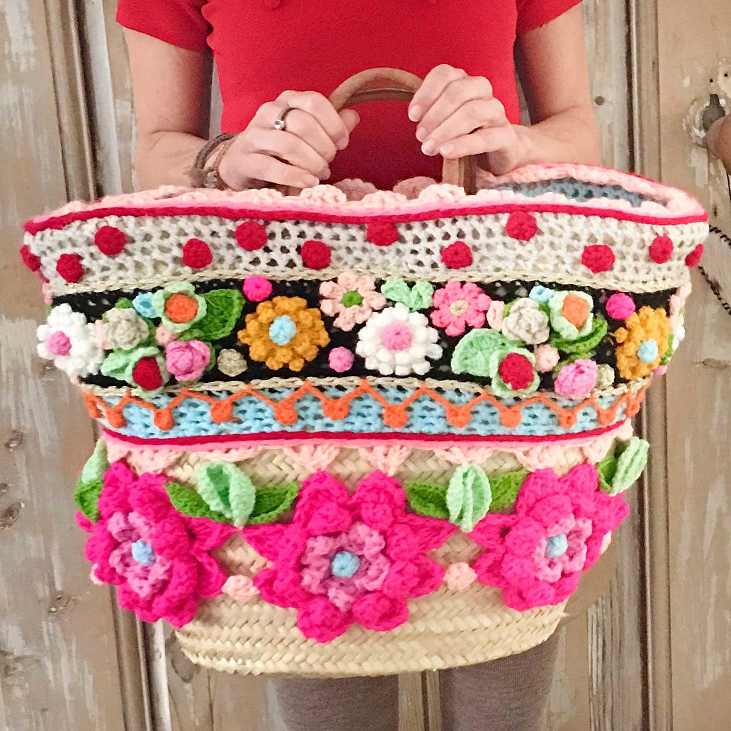 Resultado de imagen de chales y tapides con flores a crochet
