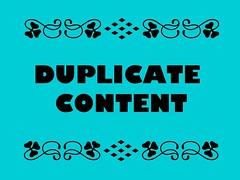 תוכן משוכפל ביחסס לקידום אתרים