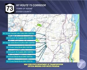 Route 73 bridges map