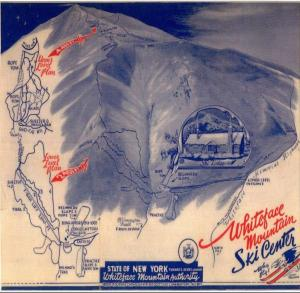 Early Whiteface Mountain Trail Map