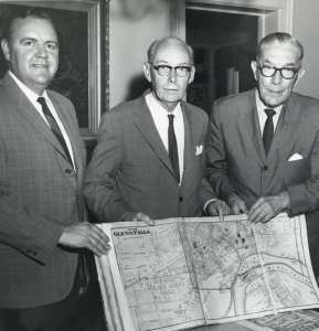Mayor Donnelly, Ralph Lapham, Frank Morey 1967