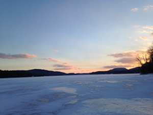 Ice On Schroon Lake
