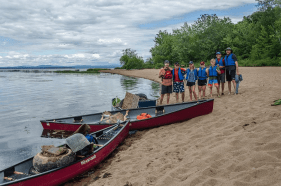 paddling river clean up