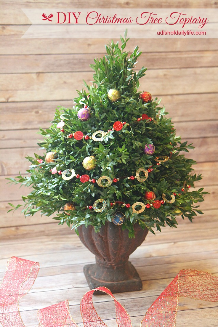 DIY Christmas Tree Topiary