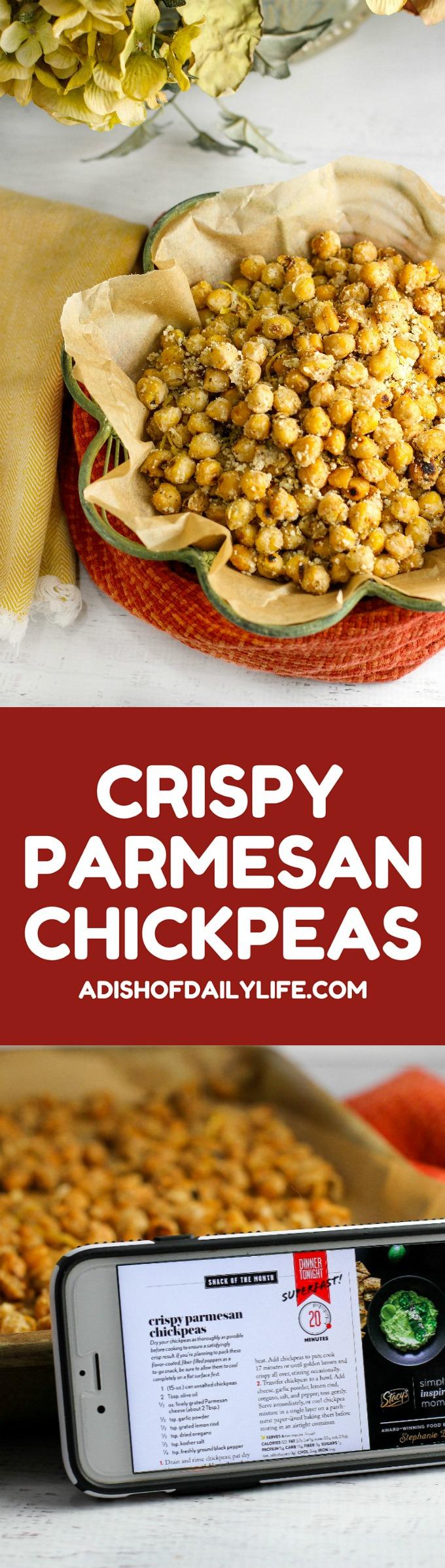 Crispy Parmesan Chickpeas