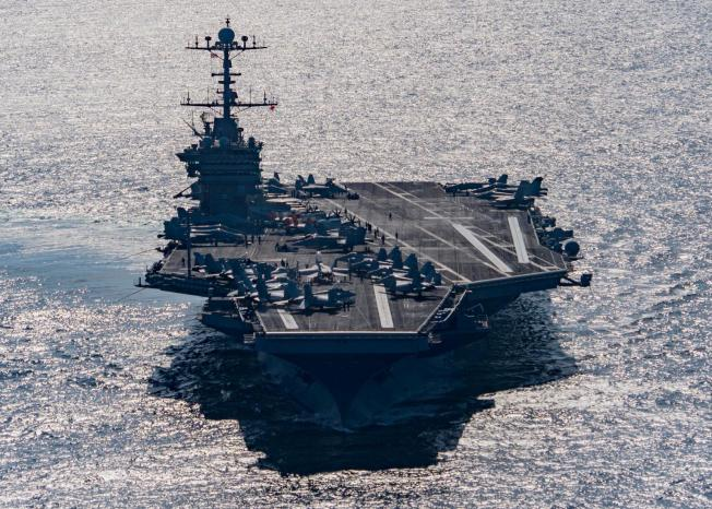 U.S. aircraft carrier USS Harry S. Truman in the Gulf of Oman, Dec. 25, 2015