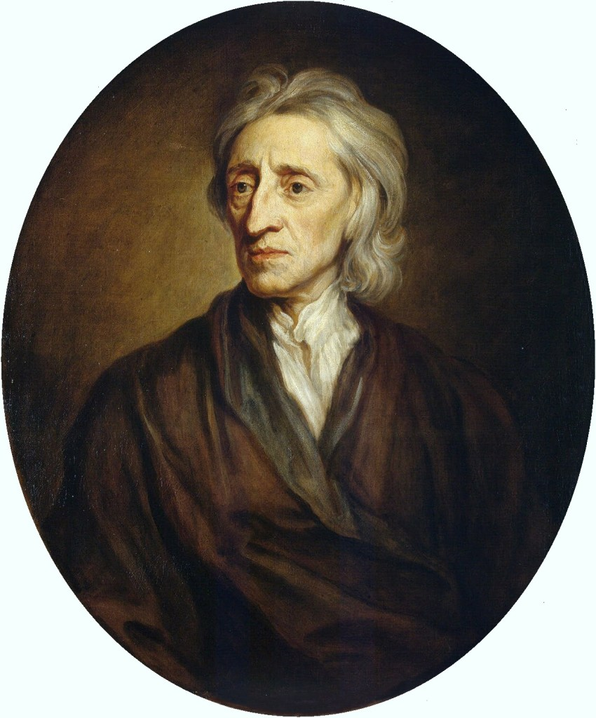 John Locke (29 August 1632 to 28 October 1704), the first to develop a liberal philosophy that included the right to private property and the necessity for government to have the consent of the governed.