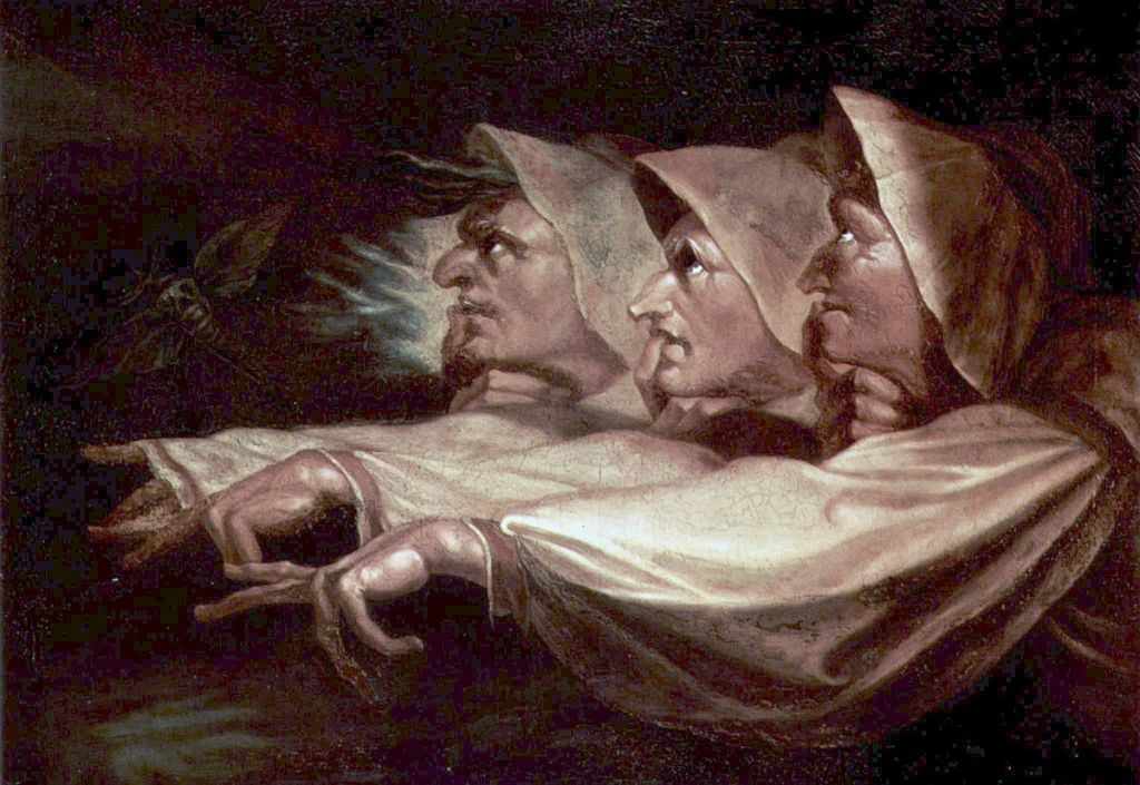 The three witches in Shakespeare's Macbeth