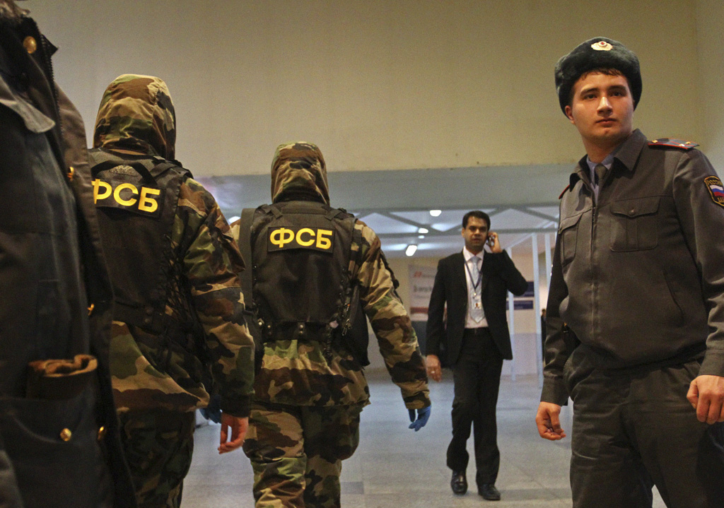 Russian FSB officers at the Domodedovo airport