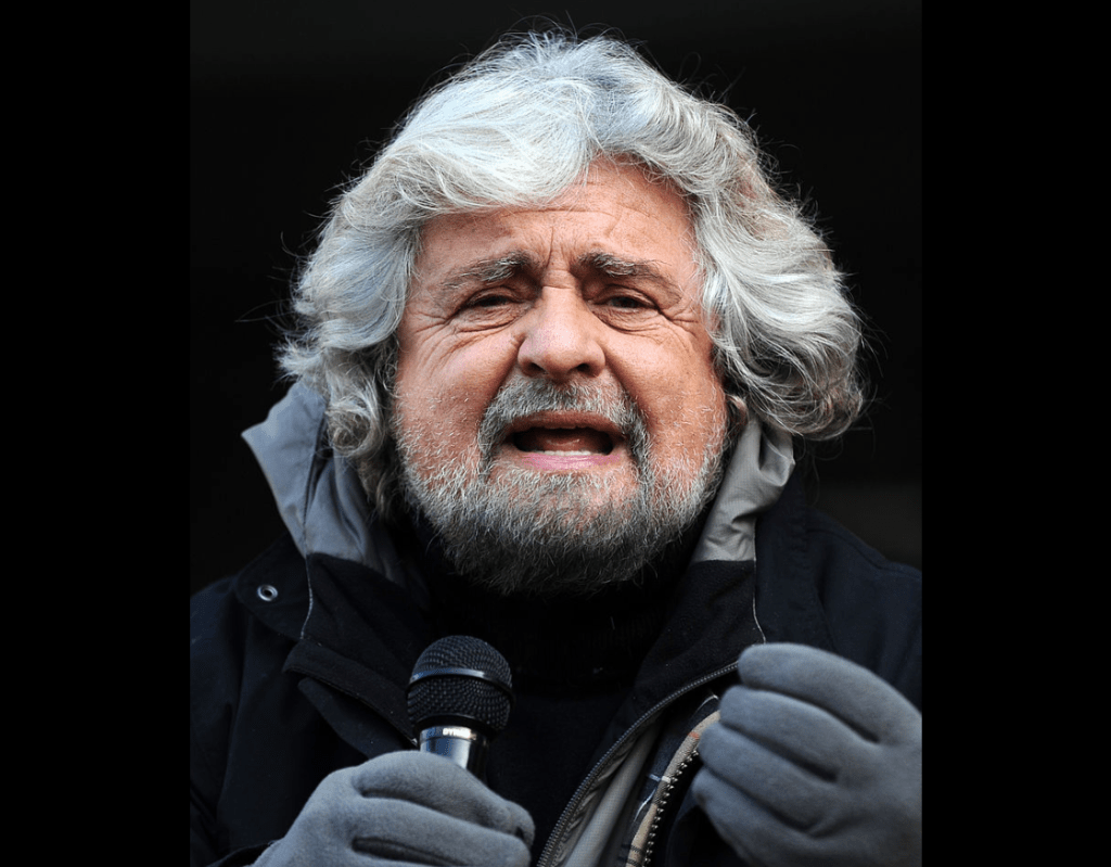 Italy's Beppe Grillo, head of the Italian Five-Star Movement in 2012