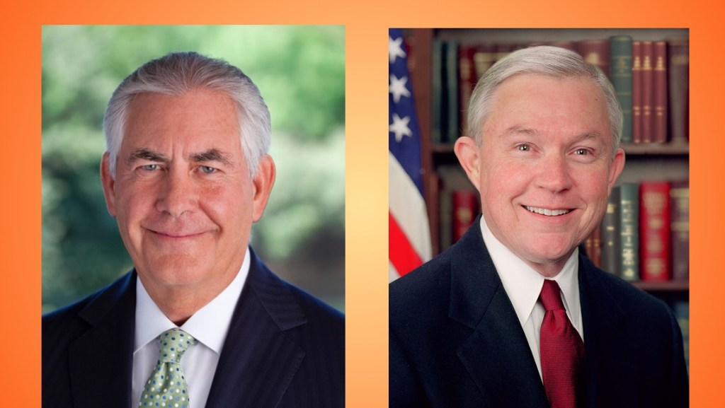 Trump Nominees Rex Tillerson (State) and Jeff Sessions (Justice)