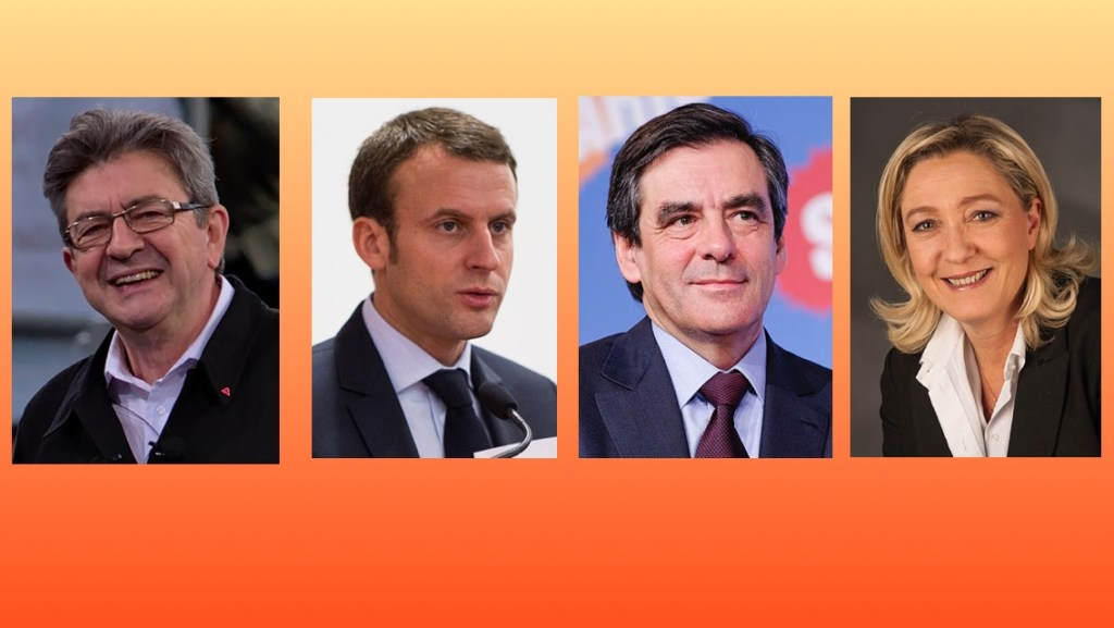 The major French presidential candidates for 2017.