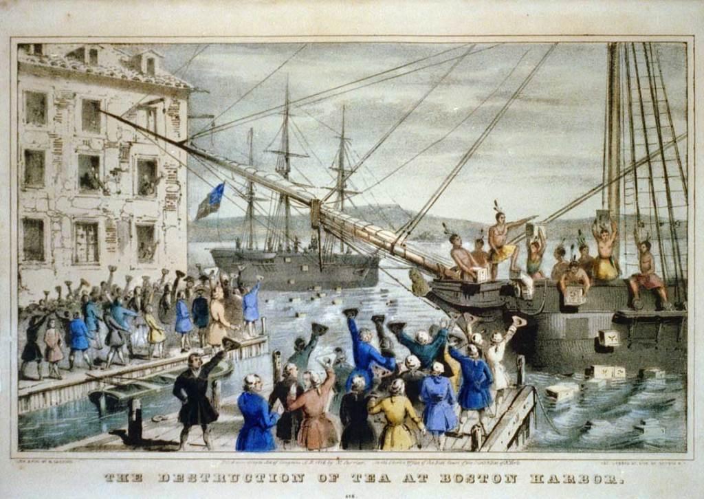 The Boston Tea Party on December 16, 1773.