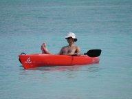 Steve relaxing in the kayak....