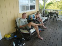 Paul and Mary relaxing on the verandah