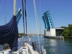 The first of many bascule bridges on the ICW for us!