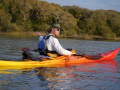 One of our guides, Brandon, on the kayak ecotour