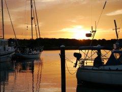 Sunset at the Marinaland Marina