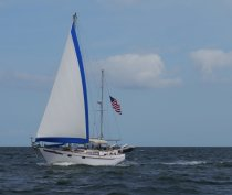 I Ching sailing down the Neuse - we have leap frogged each other several times since we first saw them at St. Augustine
