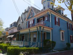 A row of Victorian homes in Cape May