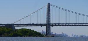 George Washington Bridge - looking back at Manhattan