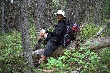 Steve resting: Hike Day 4 to Gibbon Pass and Arnica/Vista/Twin Lakes Trail