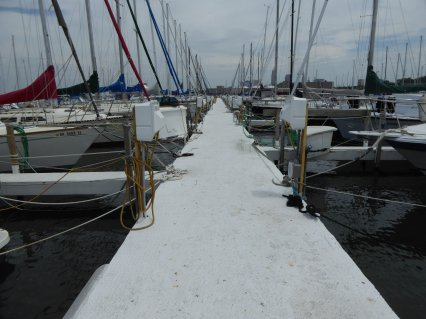 At the end of a long long dock: Edgewater YC