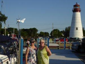 Old friends - Liz and Alison in Windsor, Ontario