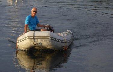 Happy dinghy skipper!