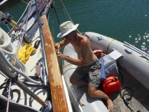 Skipper Steve at work