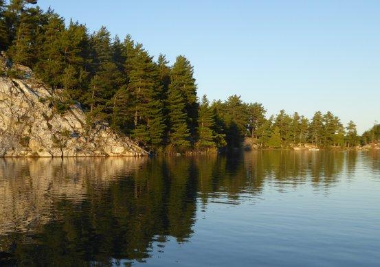 Artist and canoe - setting
