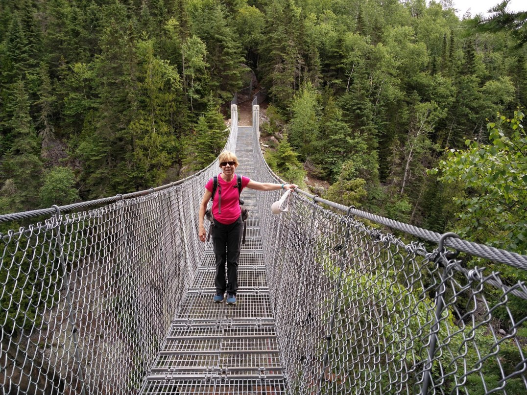Mary on the Suspension Bridge